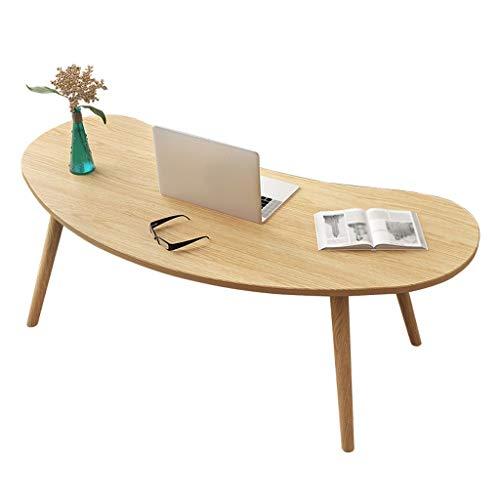 Table basse Roundarc Table D'appoint en Bois Rétro Table À Thé Salon Balcon Petit Appartement Canapé Home 76X37X42cm MUMUJIN (Color : Wood Color)