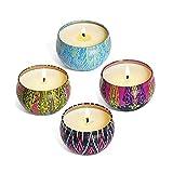 DOUYUAN 8 Piezas de Velas perfumadas, Cera Natural de Soja, frascos de Viaje para decoración del hogar