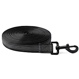 Toozey Recall Lead, 5 m | 10 m | 15 m | 20 m, Rubber Coated Dog Recall Lead, Storage Bag & Handle, Non-Slip and Robust Running Lead for Small to Large Dogs