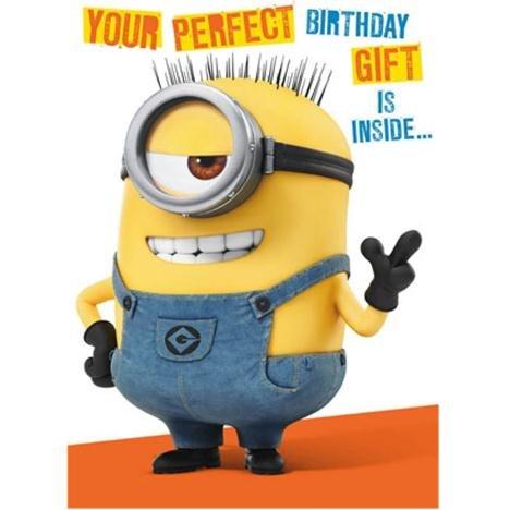 Minion Geburtstagskarte und baue dir deinen eigenen 3D-Minion