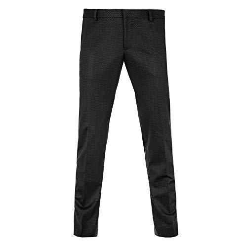 Benvenuto Purple - Super Slim Fit - Herren Baukasten Anzug Hose Gemustert aus Jersey in Schwarz, lago Club (20819, Modell: 61522)