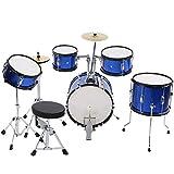 Wakects - Kit de batería de Jazz, juguete de instrumento musical educativo y pedagógico, adecuado para niños de 3 a 12 años, para estimular la creatividad de niños y niñas