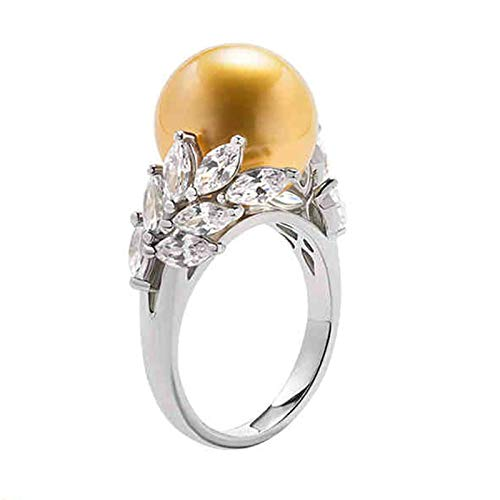 AmDxD oro blanco 18 quilates (750) round-shape Gold White Pearl
