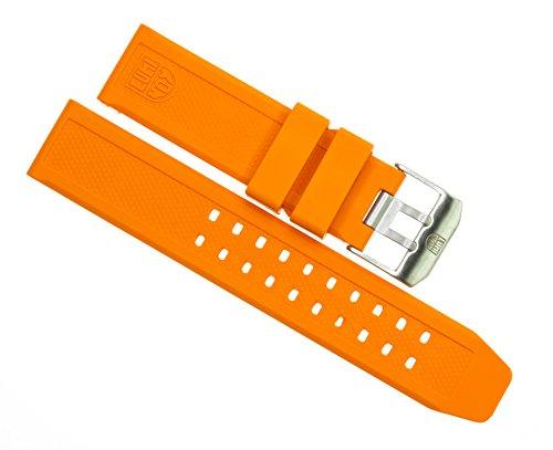 LUMINOX 23mm Rubber Strap EVO Watch Band 3050 3950 Colormark Navy Seal Orange