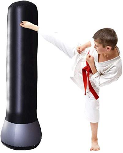 Juego de saco de boxeo para niños, saco de boxeo inflable independiente para rebote inmediato, saco de boxeo pesado para practicar karate Taekwondo niños