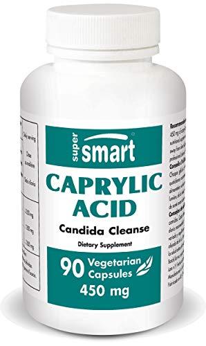 Supersmart MrSmart - Nahrungsergänzungsmittel - Caprylic Acid - Bekannt für ihre antifungiziden Eigenschaften. 450 mg, 90 Kapseln.