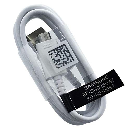 Cavo Cavetto Originale Samsung Micro USB EP-DG925UWE Bianco 1,2MT Galaxy S6 EDGE S7 G920 G925 G930 G935 SM Dati Carica Ricarica Bulk OEM