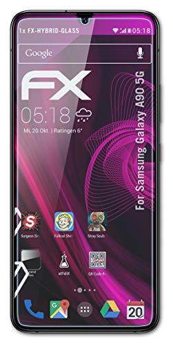 atFolix Glasfolie kompatibel mit Samsung Galaxy A90 5G Panzerfolie, 9H Hybrid-Glass FX Schutzpanzer Folie