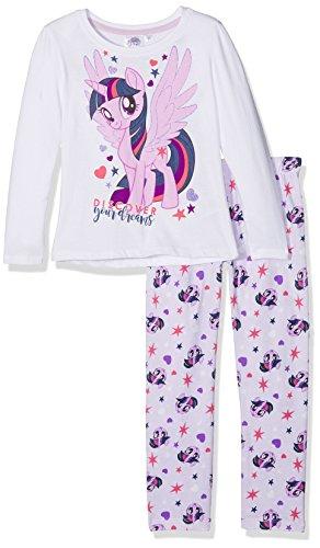 MON PETIT PONEY Mädchen Zweiteiliger Schlafanzug 161898, Weiß (White/ Pastel Lilac(14-3812 Tcx), 4 Jahre/104 cm