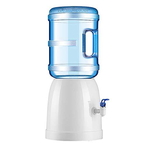 Decdeal Dispensador de Agua,Dispensador de Agua con Grifos,Dispensador de Agua con Base de Soporte Pequeño,Dispensador de Agua Embotellada de Sobremesa,Capacidad para El Hogar de 3 a 18 L