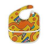 N\A Babero para niñas Vaqueros planos hermosos de moda informal Baberos para niña Recién nacido Mancha suave Alimentación del bebé Babero de baba para goteo Eructo para bebés 6-24 meses