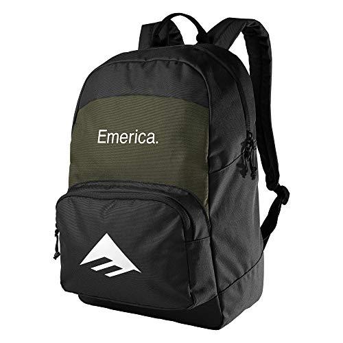 Emerica Herren Backpack Rucksäcke, schwarz/grün, Einheitsgröße