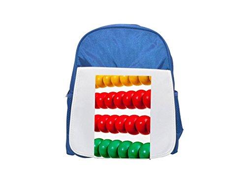 Colorido de madera Abacus–aislado sobre blanco impreso Kid 's azul mochila, para mochilas, cute small Mochilas, cute negro mochila, Cool mochila negra, moda mochilas, Gran moda mochilas, neg