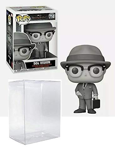 Vision 50's Pop #714 Pop TV: Wanda Vision Vinyl Figure (Bundled with EcoTek Protector to Protect Display Box)