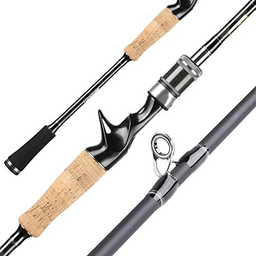 WJCCY Barra De Señuelos 1.98/2.1m Power Carbon Rod De Pesca De Carbono Spinning Casting Aparejos De Pesca De Carpa (Size : 2.1m Spinning 4-21g)