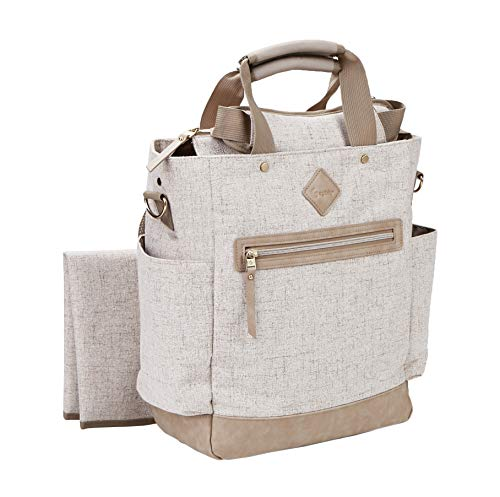 Ergobaby Diaper Bag Backpack Coffee Run Canvas, Baby Changing Bag with...