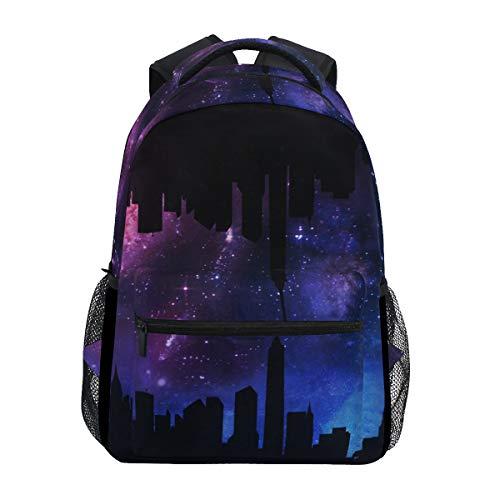 Aangepaste Mode Causale Stad Silhouet Galaxy Prints Rugzakken Meisjes Jongens Schooltassen Schouders Tas Reizen…