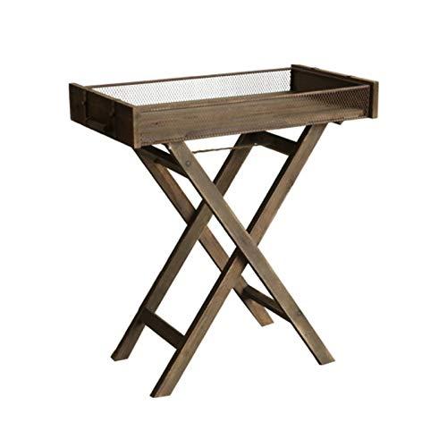 Suministros de jardinería de alta calidad, soporte de piso de madera maciza binaural retro, estante, mesa de bandeja de patio de jardín de balcón en maceta