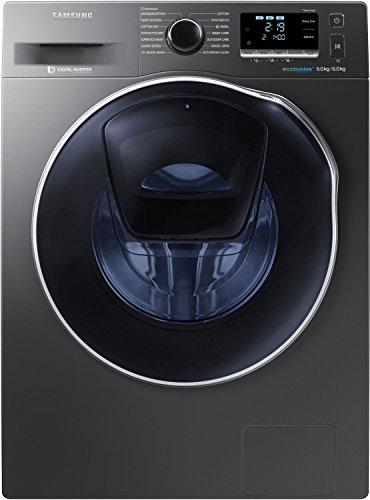 Samsung 9.0 kg / 6.0 kg Fully-automatic Washer Dryer (WD90K6410OX, Inox Grey)