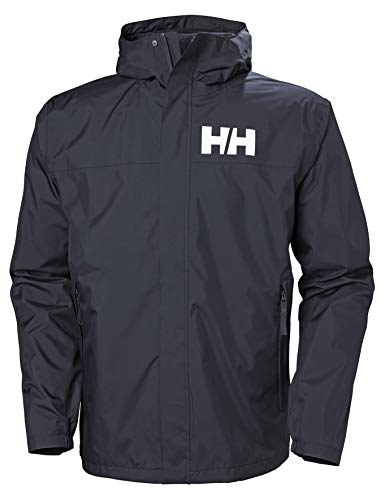 Helly Hansen Active 2 Chaqueta Impermeable con Capucha, Hombre, Navy, L