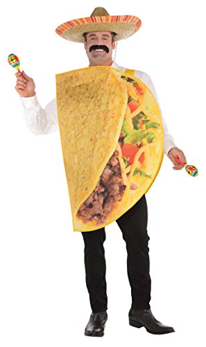 amscan 8400080-55 Taco - Disfraz para Adulto (Talla XXL, Multicolor.