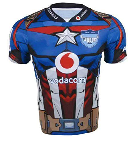 CRBsports Blue Bulls, Rugby-Trikot, Hero Edition, Neue Stoff Bestickt, Swag Sportswear (Blau, XL)