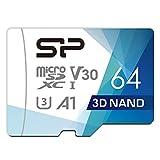 シリコンパワー microSD カード 64GB class10 UHS-1 U3 対応 最大読込100MB/s 4K対応 Nintendo Switch 動作確認済 3D Nand 【Amazon.co.jp限定】