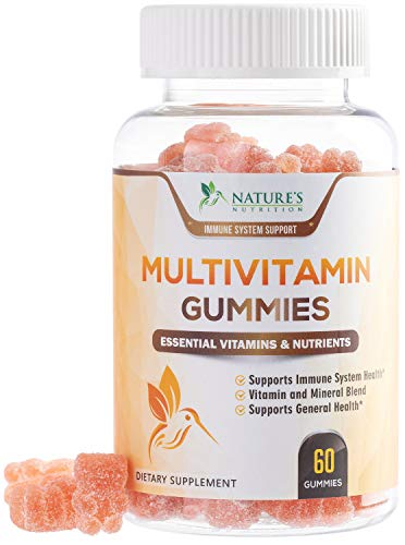 Multivitamin Adult Gummies Extra Strength Vitamin Gummy - Natural Complete Daily Supplement - Vegetarian Multi with Vitamins A, C, E, B6, B12 for Men and Women, Non-GMO - 60 Gummies
