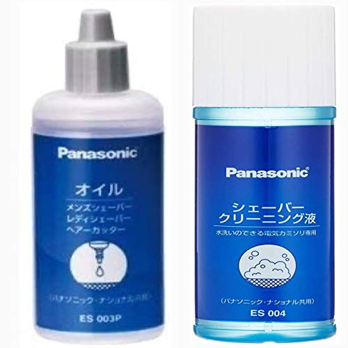 Panasonic オイル ES003P + パナソニック 水洗いのできる電気カミソリ用シェーバークリーニング液 100ml ES...