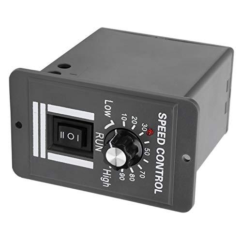 con Interruptor y Perilla Regulador de Motor de CC Controlador de Velocidad del Motor Regulador de atenuación de Monitor para Motor eléctrico Industrial Regulador de accionamiento para