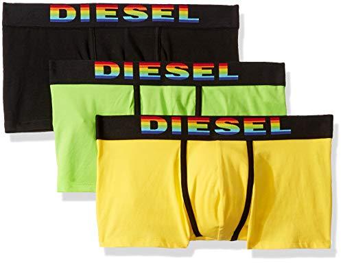 Diesel Herren Damien 3 Pack Stretch Cotton Trunks Badehose, schwarz/gelb, XX-Large