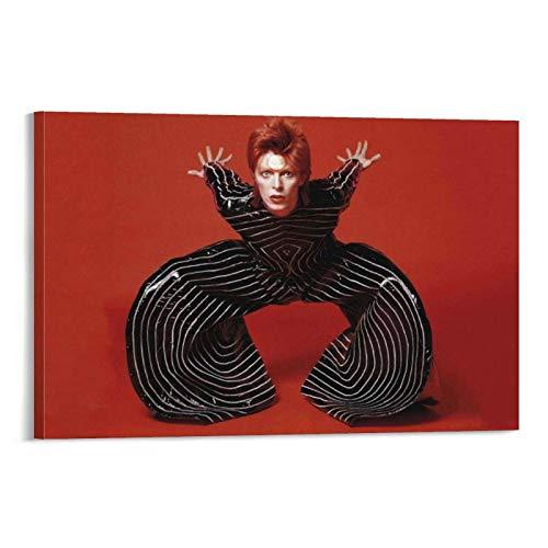 QWKM David Bowie Affiche d'art sur toile et tableau mural...