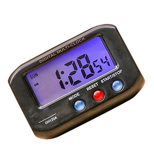 censhaorme Pantalla LCD portátil eléctrico de escritorio reloj electrónico Alarte datos de...