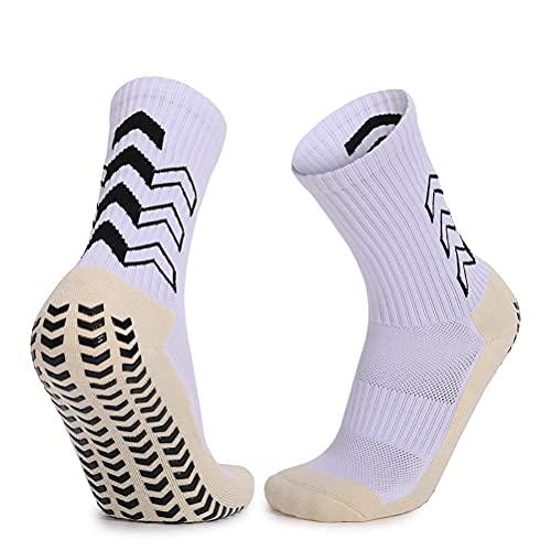 KUANPEY 1 par de calcetines de fútbol unisex antideslizantes, cómodos calcetines deportivos gruesos, antideslizantes para fútbol, baloncesto, hockey, calcetines deportivos para hombres y mujeres