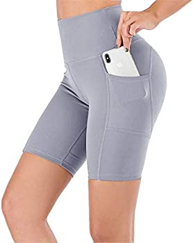 UBFEN Women's High Waist Yoga Shorts with Pockets (various)