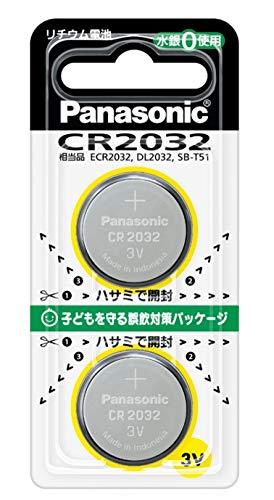 パナソニック リチウム電池 コイン型 3V 2個入 CR-2032/2P