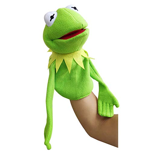 GoGreen Sprouter Kermit Frog Puppet Plushie Toy,Street Hand Puppet Show Frog Stuffed Doll Children's Gifts 40cm/Green