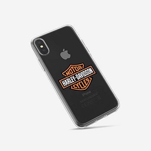 Super FABRIQUE - Cover morbida in silicone trasparente per Apple iPhone (7/8 Plus - X/XR/XS/XS Max / 11 / 11Pro / 11 Pro Max) Logo Harley Davidson (7/8/SE)