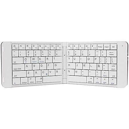 Leotec Mini Teclado plegable Bluetooth Blanco