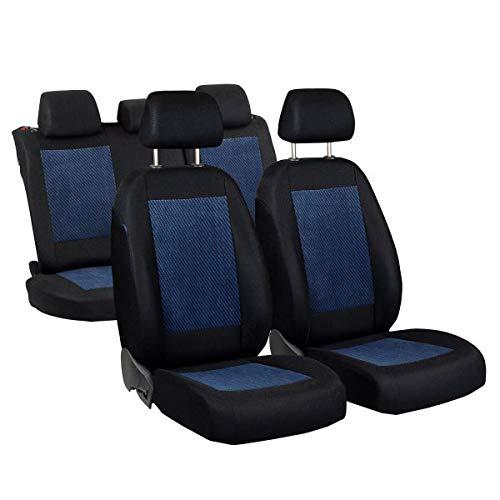 Zakschneider Car seat covers for C3 Full Set Color Premium Black with Blue Velours
