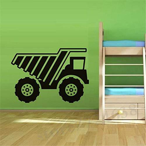 yiyitop Skip Truck Vinyle Sticker Mural Enfants Véhicule Art Stickers pour La Décoration De Chambre des Enfants Amovible Auto Adh 44 * 62 cm