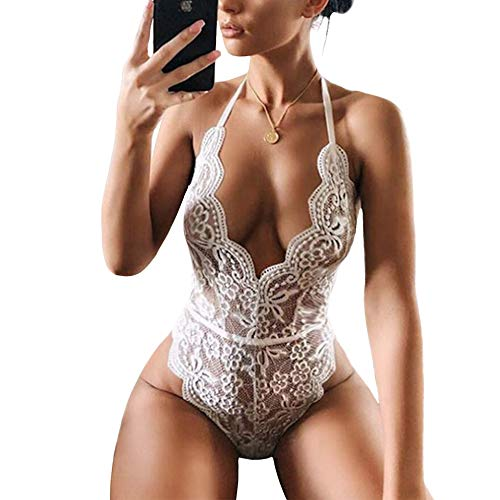 Lace Bodysuit for Women Sexy Eye...