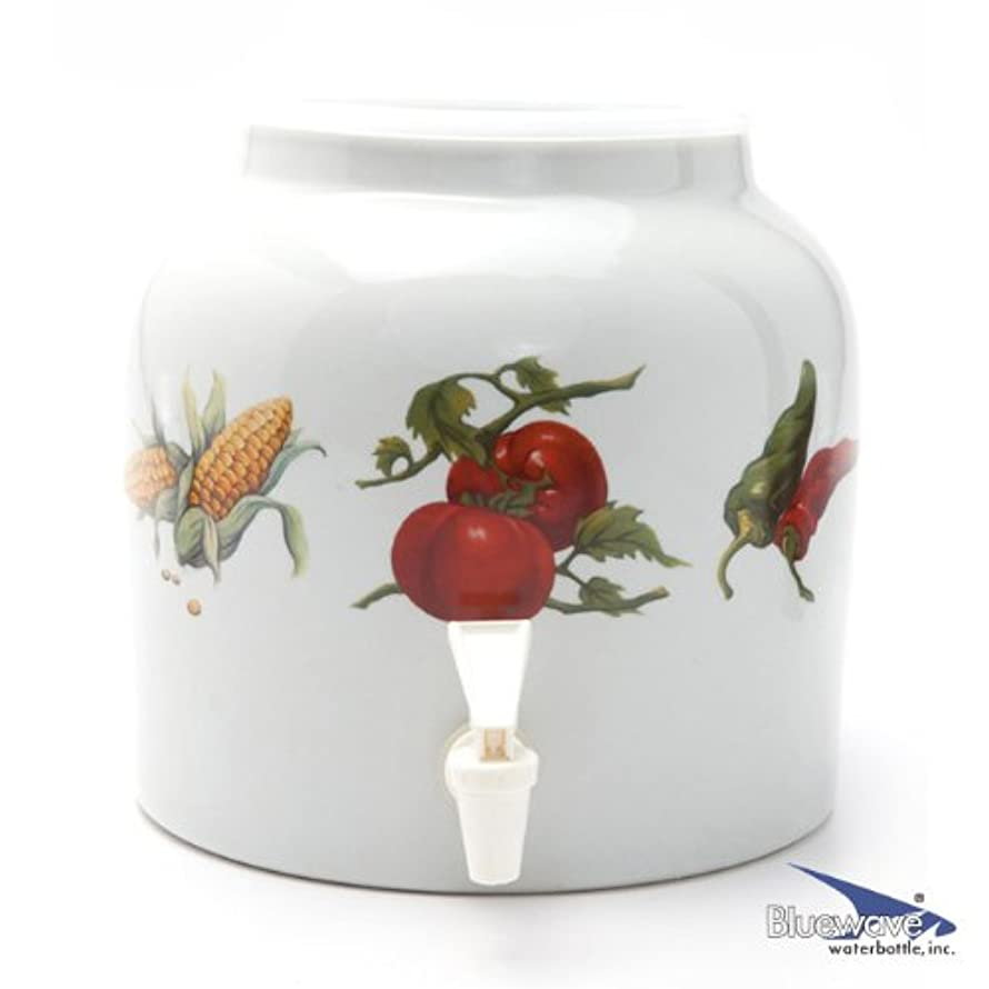 Bluewave Garden Veggies Design Beverage Dispenser Crock