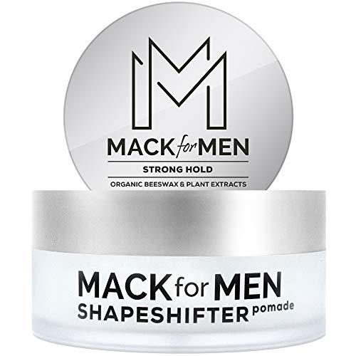Mack for Men ShapeShifter - Premium Hair Pomade for Men - Strong Hold (Organic Beeswax) Water Based...