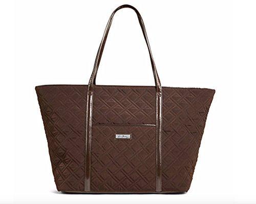 Vera Bradley Trimmed Vera Traveler Bag in Espresso