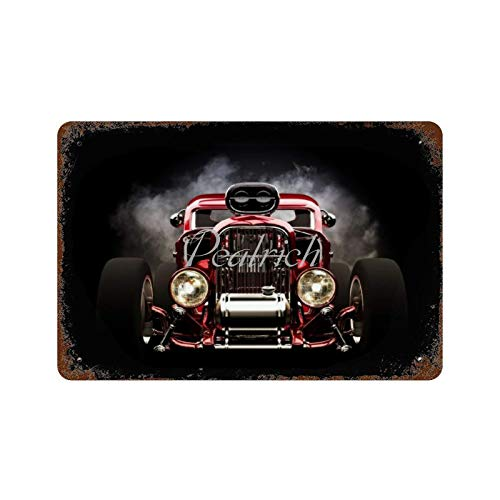 Scott397House Wall Poster Tin Signs 7x10 Hot Rod Car Wheels Classic Vehicle Truck Vintage Metal Plaque Decorative Sign Home Decor for Indoor Outdoor