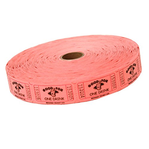 MUNCIE NOVELTY COMPANY Pink Good For One Drink Ticket Roll