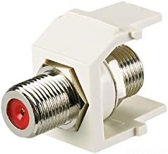 Panduit NKFEI 1-Port Coupler Module with F-Coaxial Connector, Electric Ivory
