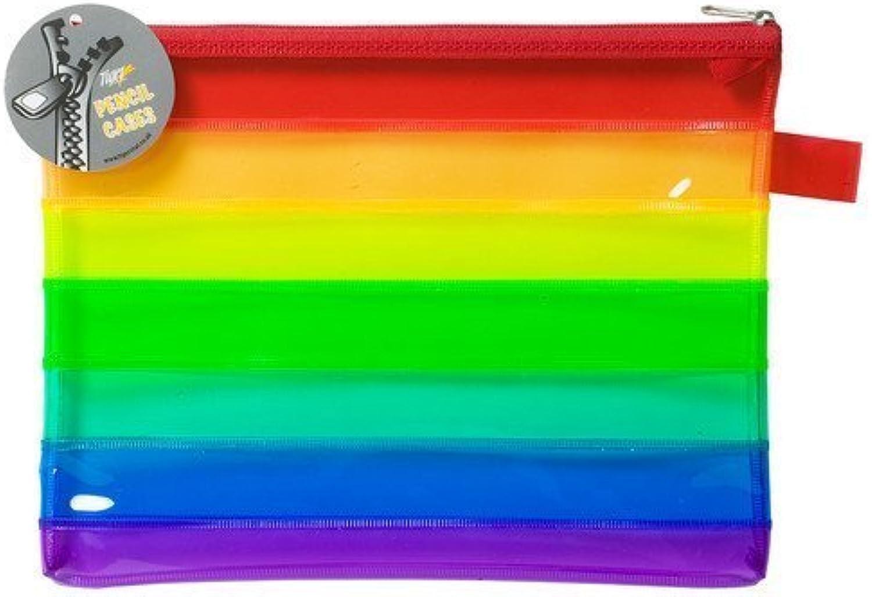 10 Stück Rainbow flach A5 A5 A5 Bleistift Fall B00BKXIYFO | Schöne Kunst  1f059a