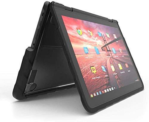 Gumdrop DropTech Case Designed for Lenovo 300e Gen 1 Chromebook Laptop for K-12 Students, Teachers, Kids - Black, Rugged, Shock Absorbing, Extreme Drop Protection